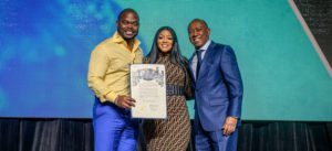 Holton Buggs, Earlene Buggs and Sylvester Turner, Mayor of Houston